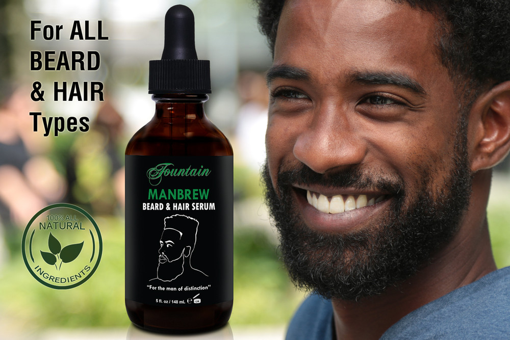 Fountain Manbrew Beard and Hair Serum is suitable for all hair types and ethnicities