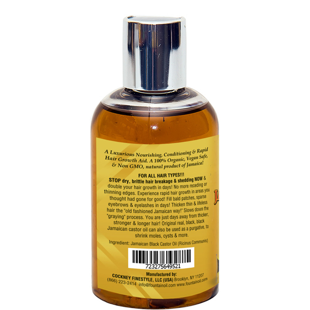 Fountain Real Black Black Jamaican Castor Oil 4 Oz - LEFT