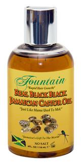 Fountain Real Black Black Jamaican Castor Oil 4 Oz