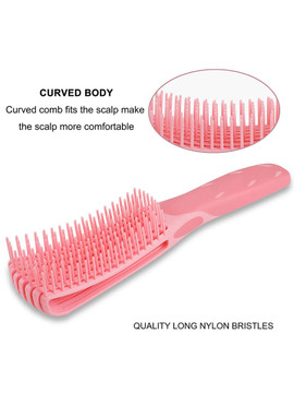 Fountain Detangling Brush for Coily Curly Kinky Normal Wavy Wet Thick or 4C Hair