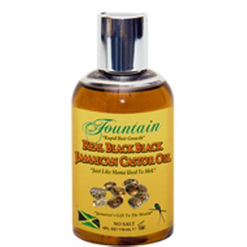 Fountain Jamaican Black Castor Oil for Fast Hair Growth & Jumbo Satin Bonnet