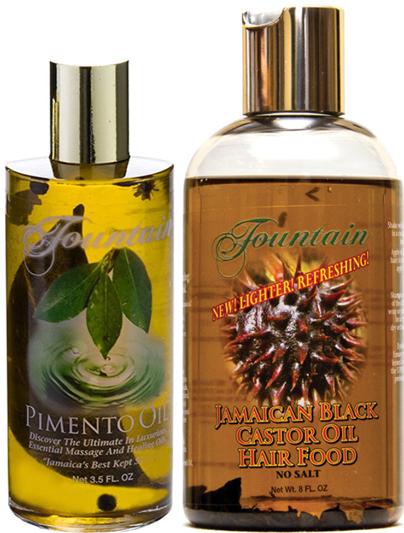 Fountain Pimento Oil and JBCO Hair Food Combo