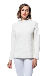 Mineral Wash Mock Neck Sweater