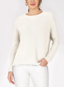 Emma Crewnwck Shaker Stitch Sweater