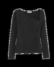 Asymmetrical Neckline Pullover