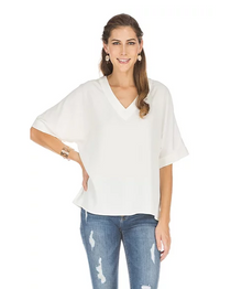 V Neck Pullover Tunic Top