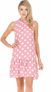 Berry Dot Dress