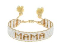 Hart Small White/Gold Mama Bracelet