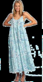 Emily Long Dress in Sky Magnolia Shadow