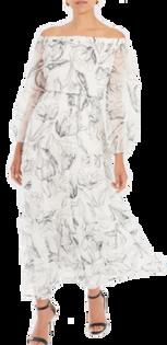 Pierce Sketched Iris Print Maxi Dress