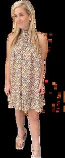 Louisa Dress in Brown Floral