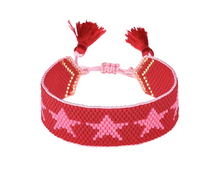 Hart Pink and Red Star Bracelet