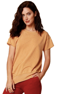 Short-Sleeve Asymmetrical Top