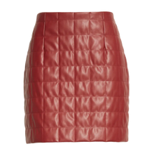 Sonia Vegan Leather Quilted Skirt