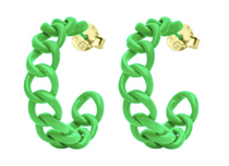 Painted Petite Chain Hoop