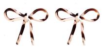 Cocoa Swirl Bow Studs