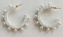 Marbled Pearl Hoops