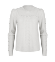 Ivory Detailed Sweater
