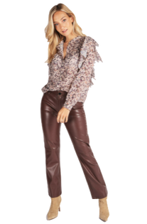 Faux Leather Trouser