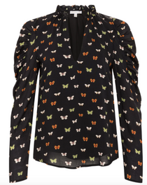 James top in Butterfly Print