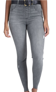 Vintage Grey Denim Distressed Leggings