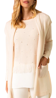 Cashmere Pearl Twofer Sweater