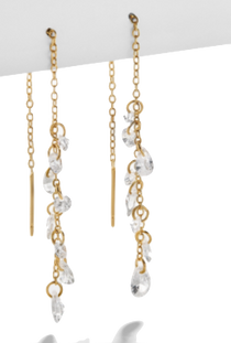 Lugano 18k Gold Vermeil Drop Earring