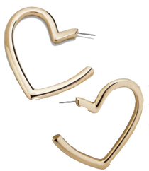 Brianna Heart Hoop Earring