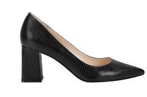 Zala Block Heel Pointy Toe Pump Multi Leather