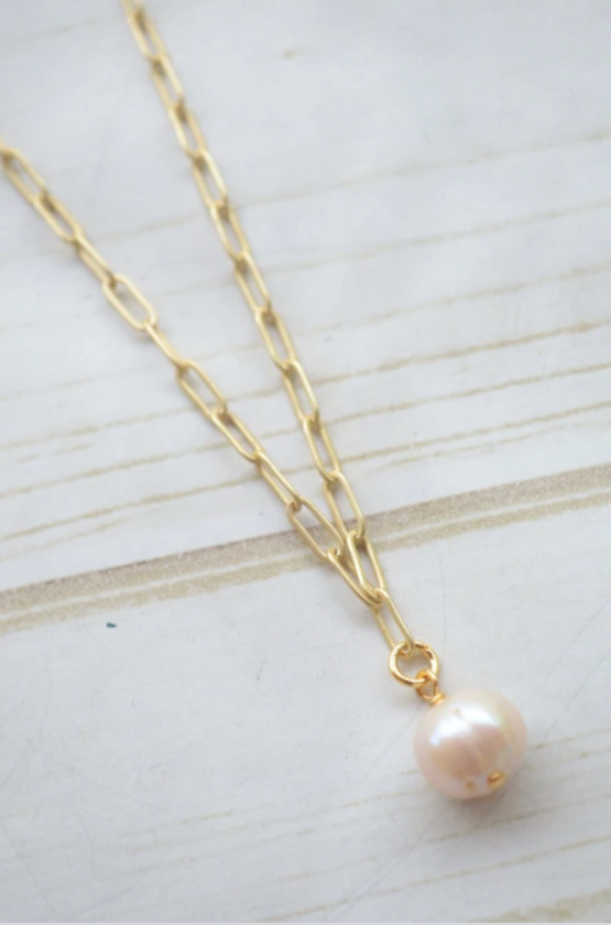 """16"""" Paperclip with Mini Pearl"""