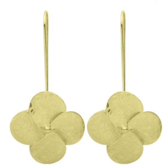 Flower Drop Earring - 18k Gold Plated