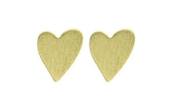 Amores Stud Earrings - 18k Gold Plated