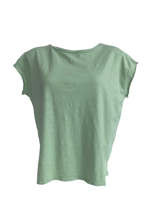 Cap Sleeve Dropped Shoulder Boxy Tee