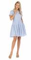 Button Trim Tier Dress