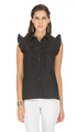 Pleated Front Blouse