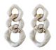 Cream Lucite Chain Drop Earrings