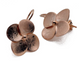 Small Flower Drop Earring - Rose Gold Plated