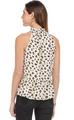Cheetah Print Halter with Ruffle Hem