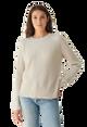 Cotton Silk Waffle Crew Sweatshirt