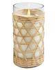 Salt + Sea Bamboo Candle Glass