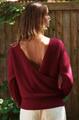 Open Back Rib Sweater