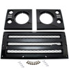JGS4x4 | Land Rover Defender XS Front Grille & Headlamp Surround Black With Silver Mesh - DA1968