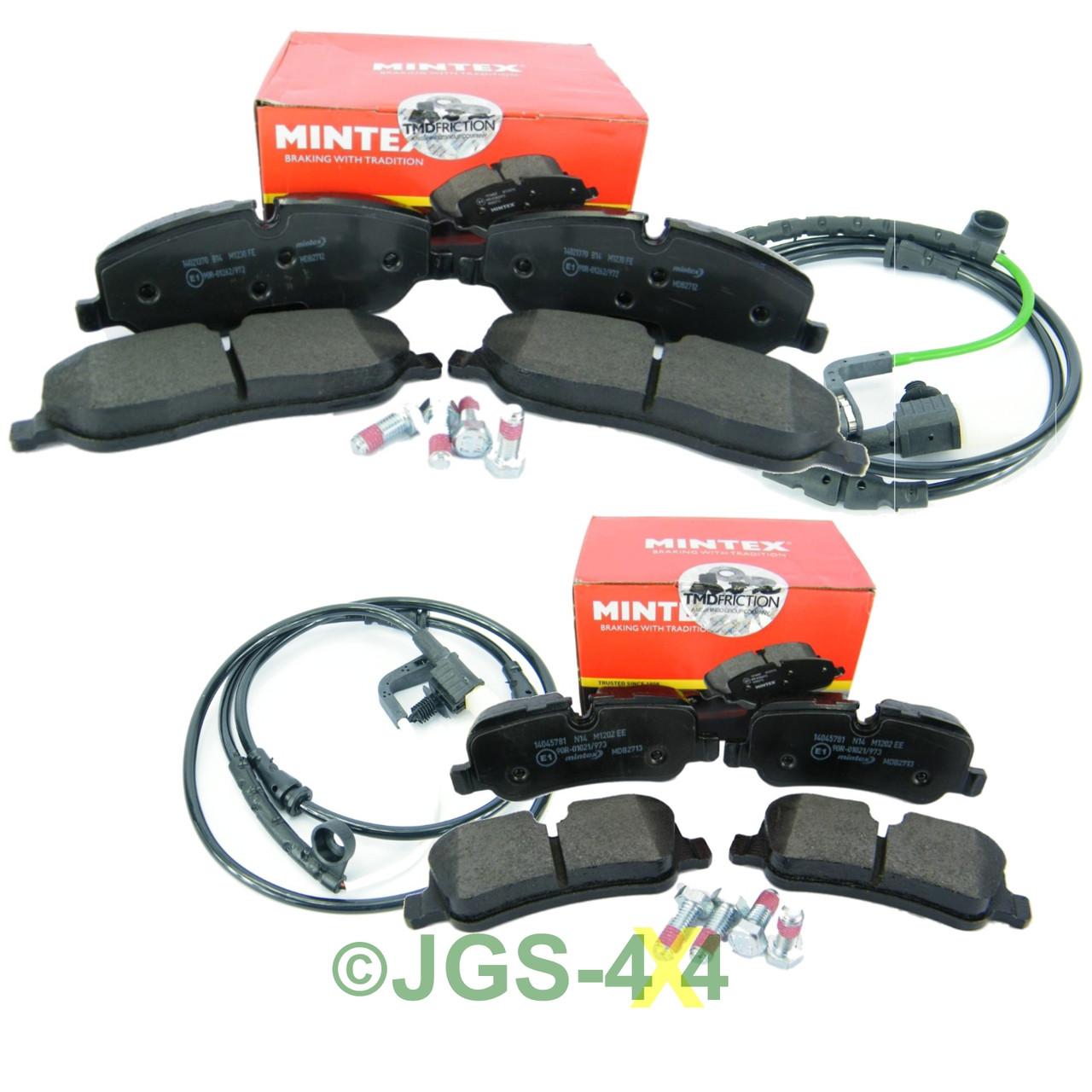 Brembo Brake Pad Set Front /& Rear+3-Brake Sensors Set For Land Rover Range Rover