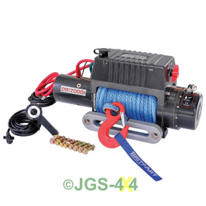 12V Pulling Power Electric Winch 12,000lbs with Dyneema Synthetic Rope - DB12000IR