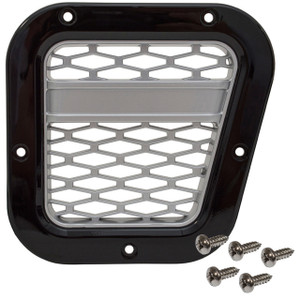 Defender XS Side Air Intake Grille Black With Silver Mesh - DA1970