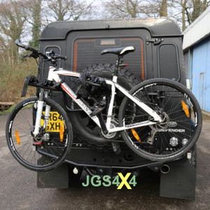 Land Rover Defender Bike Rack Spare Wheel Mounted 3 Bicycle Carrier - BA3881