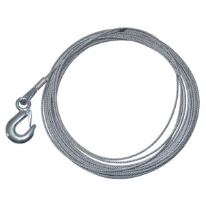 Replacement Galvanised Winch Cable with Hook 15.2 Metre - DB1354