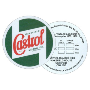 "3"" Window Service Sticker Castrol - DA6275"