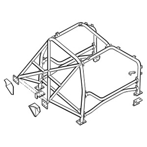 Freelander 1 Competition Roll Cage Safety Devices - RBL1506SSS