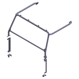 Defender External Front Roll Cage Black Safety Devices  - RBL1383SSS